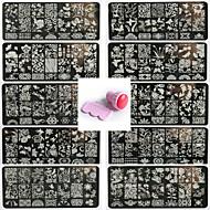 10pcs pattren תחרה מסמר תבנית חותם אמנות הציפורן לתת 12x6cm כלי חותם 1 סט