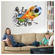 Still Life / Sports / 3D football Wall Stickers 3D Wall Stickers,pvc 50*70cm