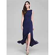 TS Couture® Formal Evening Dress Sheath / Column Scoop Ankle-length Georgette with Side Draping