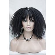 afro kinky krøllet off sorte medium længde kvinders syntetisk paryk med pandehår Senegal havana stil 10062 2