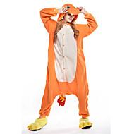 Kigurumi Pyjamas New Cosplay® / Drachen Gymnastikanzug/Einteiler Halloween Tiernachtwäsche Orange Patchwork Polar-Fleece Kigurumi Unisex