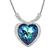 Necklace Pendant Necklaces Jewelry Wedding / Party / Daily / Casual Fashionable / Adorable Crystal / Alloy / Cubic Zirconia Silver 1pc