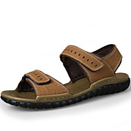 Men's Shoes Outdoor / Office & Career / Athletic / Casual Nappa Leather Big size Sandals Khaki