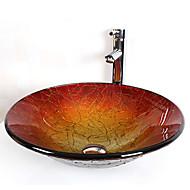 Set Bathroom Sink-Współczesny-Szkło hartowane-Szkło hartowane
