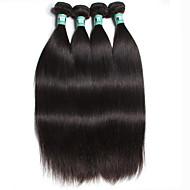 """4 stuks / lot 8 """"-30"""" 5a Braziliaanse maagdelijke haar steil human hair extensions 100% onbewerkt brazilian remy haar weeft"""