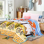 Bicycle High-end Green Environmental Protection Printing And Dyeing Method, Wool Blanket Full Size