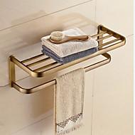 Badeværelseshylde Antik messing Vægmonteret 23.2*8.3*7.9 inch Messing Moderne