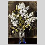květina styl malby canvas materiál olej s nataženém rámu připraven k zavěšení velikosti 60 * 90cm