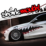 """um tamanho 60 """"* 20"""" cool dentes na boca de tubarão ho decalques do corpo do carro auto etiqueta reflexiva (1 par)"""