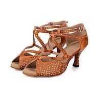 Sapatos de Dança(Preto / Marrom / Cinza) -Feminino-Personalizável-Dança do Ventre / Latina / Jazz / Tênis de Dança / Moderna / Samba /