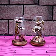 מתנות בוטיק יצירתי אמנות פריטי ריהוט זכוכית הנוף מיקרו פרחים מיובשים