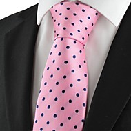 New Polka Dot Pink Navy Classic Mens Tie Suit Necktie Wedding Holiday GiftKT1045