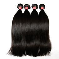"""3ks hodně 8 """"-28"""" Brazilský panna vlasy rovné přírodní černá lidských svazky vlasy vazba přístřešek&tenatových zdarma prodlužování"""