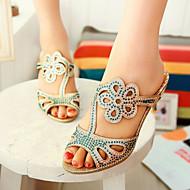 נעלי נשים-סנדלים / בלרינה\עקבים / קבקבים וכפכפי עקב-סינטתי-עקבים / נעלים עם פתח קדמי-אדום / כסוף / זהב-שמלה / קז'ואל / מסיבה וערב-עקב