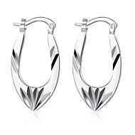Beszúrós fülbevalók Klipszes fülbevalók Vésett Európai Ezüst Réz Ezüstözött Flower Shape Ezüst Ékszerek Mert Esküvő Parti Napi Hétköznapi