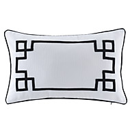 Cotton Pillow With Insert,Geometric Traditional