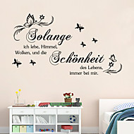 Words & Quotes Wall Stickers Plane Wall Stickers,vinyl 44*29cm