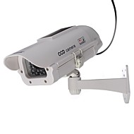 Outdoor / Indoor Solar Powered CCTV Dummy Security Camera Fake Cam with Flash LED, Dummy IP Camera Outdoor