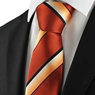 עניבה-פסים(שחור / כתום,פוליאסטר)