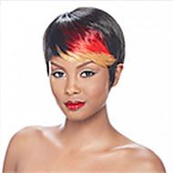 האופנה לערבב clolor ישר קצר (שחור ואדום) שיער סינטטי פאות פאת מפלגה