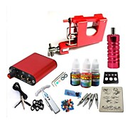 basekey tatuaje kit jh553 1 máquina con apretones de alimentación 3x10 ml de tinta