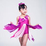 Ballet Dresses Women's / Children's Performance Lycra Flower(s) / Pleated Sleeveless High