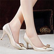 Wedding Shoes - Saltos - Saltos / Bico Fino / Bico Fechado - Vermelho / Champagne - Feminino - Casamento / Social / Festas & Noite