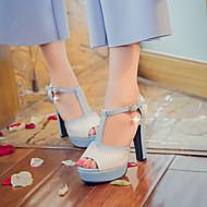 Women's Shoes  Chunky Heel Peep Toe / Platform / Open Toe Sandals Party & Evening / Dress / Casual Blue / Pink / Beige