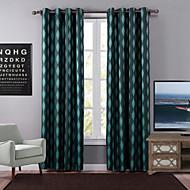 Um Painel Moderno Geométrico Verde Quarto Poliéster Blackout Cortinas cortinas