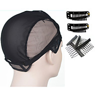 Wig Cap for Making Wigs with Adjustable Strap On The Back Weaving Cap Size M with 2 Snap Clips and 4 Wig Comb Clips