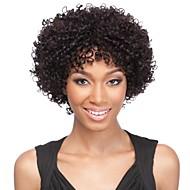 módní afro kudrnaté kudrnaté přirozená barva 100% brazilské lidské vlasy paruka krajka přední paruky