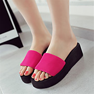 Spring Summer Fall Slippers Customized Materials Outdoor Dress Casual Flat Heel Black Red