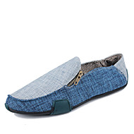 Men's Shoes Casual Fabric Loafers Black / Blue