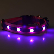 Dog Collar Reflective / LED Lights Red / White / Green / Blue / Yellow / Purple / Orange Nylon