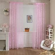 W100cm*L200cm,One Panel Rod pocket Multicolour Polyester Curtains
