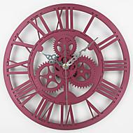עגול / מצחיק רטרו שעון קיר,אחרים / משפחה אקרילי / מתכת 13 inch