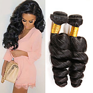 nueva llegada 3Bundles teje armadura peruana onda floja negro natural del pelo sin procesar virginal del cabello humano virgen.