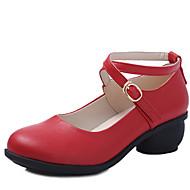 Sapatos de Dança(Preto / Marrom / Vermelho / Branco) -Feminino-Não Personalizável-Tênis de Dança / Moderna