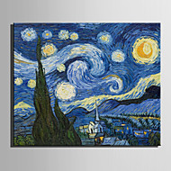 Mini Size E-HOME Oil painting Modern Starry Sky Pure Hand Draw Frameless Decorative Painting