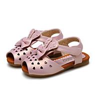 Sandály-Koženka-Pohodlné Flower Girl Boty-Dívčí-Růžová Stříbrná Zlatá-Svatba Outdoor Šaty Běžné Party-Plochá podrážka