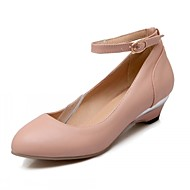 Women's Shoes Leatherette Low Heel Heels Heels Wedding / Office & Career / Party & Evening Blue / Pink / Beige