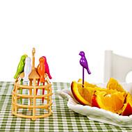 6stk bur frugt gaffel kage gaffel