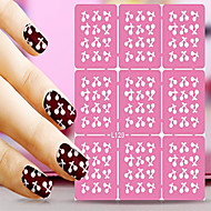 1pcs  Nail Art Hollow Stickers New Design Cherry Bone Drop Interesting Geomestric Shape  Nail Art Beauty  L121-130