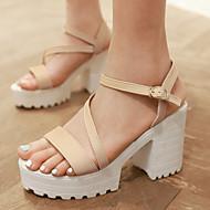 Women's Shoes Chunky Heel Split Sole Heels/Platform/Sling back/Open Toe Sandals Party & Evening/Dress Black/Blue/Beige