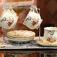 keramický šálek čaje 4 * 3ks odpolední čaj porcelán Britský styl