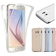 Varten Samsung Galaxy S7 Edge Läpinäkyvä Etui Kokonaan peittävä Etui Yksivärinen TPU Samsung S7 edge / S7 / S6 edge / S6
