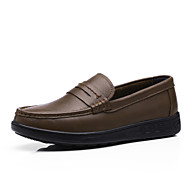 Men's Shoes Outdoor / Casual Nappa Leather Loafers Black / Brown / Khaki