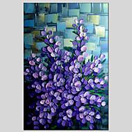 Ručně malované Květinový/Botanický motivModerní / Klasický / Tradiční / evropský styl Jeden panel Plátno Hang-malované olejomalba For