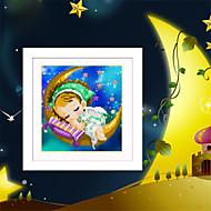 diy 5d elmas nakış ay melek kız ve erkek sihirli küp yuvarlak elmas boyama kanaviçe kitleri elmas mozaik