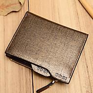 Bi-fold (due scomparti)-Portafoglio / Porta carte di credito-Donna-PU-Blu / Dorato
